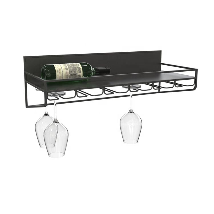 Mayco modern mini decorative display steel wrought iron wire metal craft hanging wine cup bottle cork glass rack
