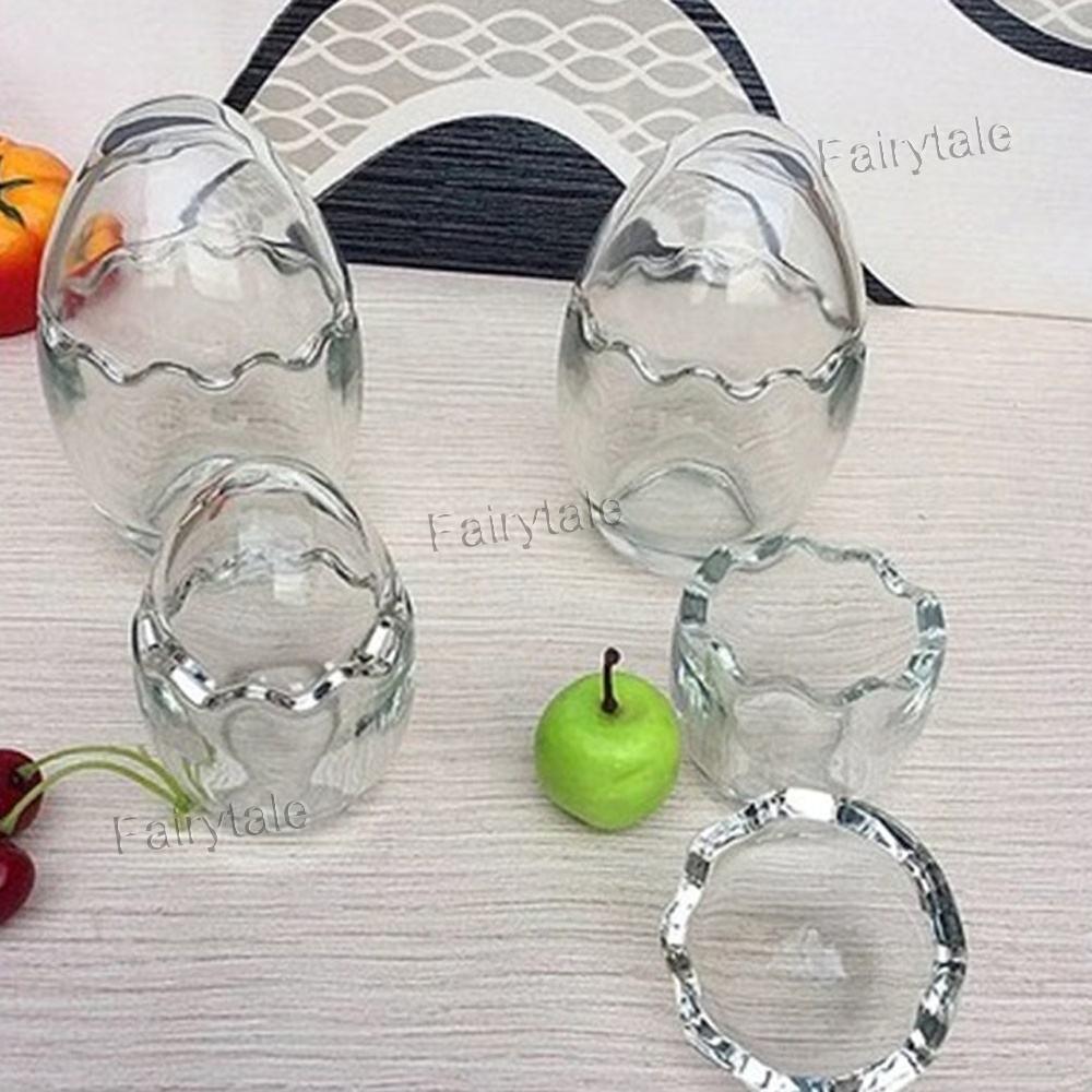 Cáscara de huevo poniendo vasos de alta resistencia a la temperatura de vidrio taza de yogur
