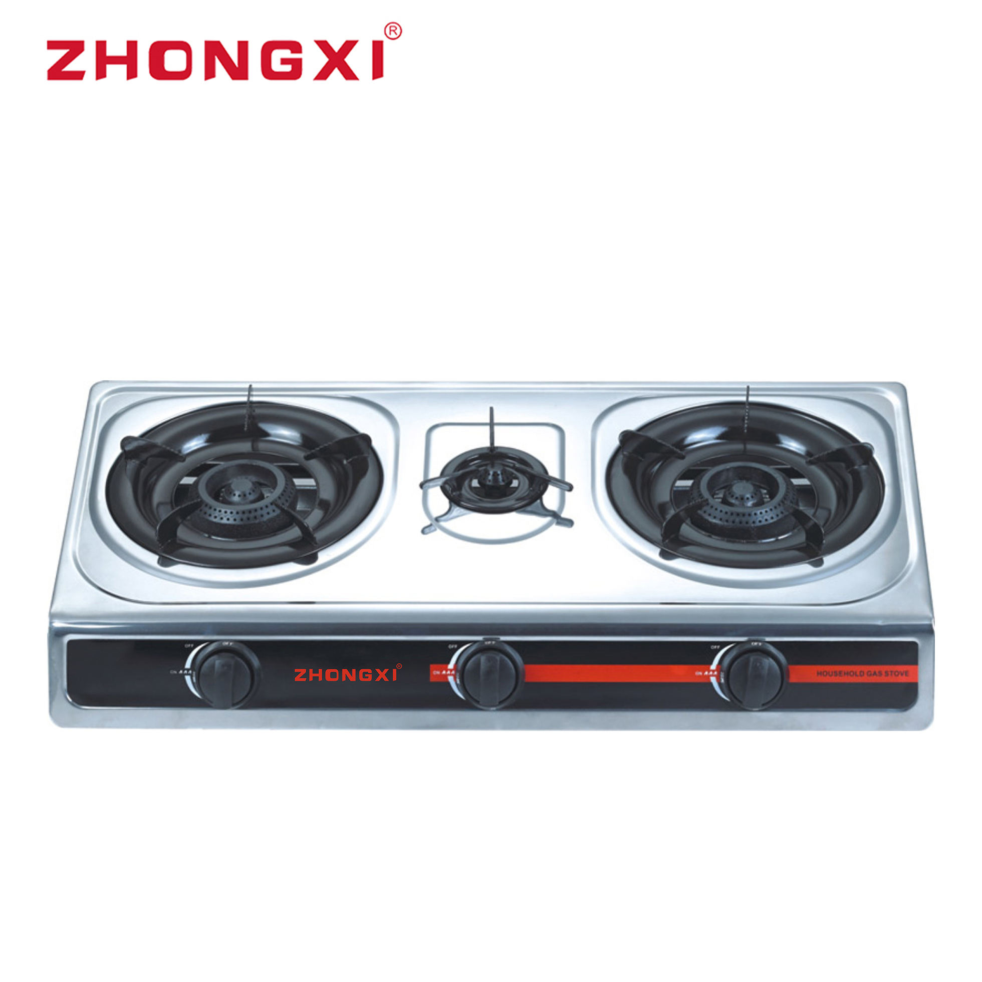 3 Burner gas Stove Appliance Home Cast Iron Eco Besse Cooker gas Burner