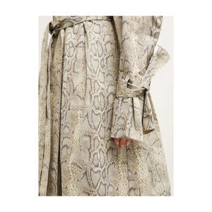 OEM Women Fashion Printed oversized Trench Coat