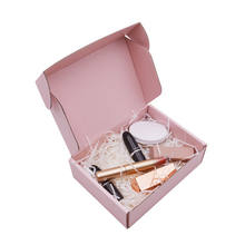 China manufacturer custom cardboard paper shipping box montly subscription eyelash cosmetics pink gift packaging box
