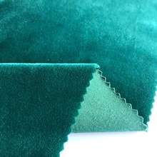 Hot selling plain dyed super soft velvet 97% polyester 3% spandex stretch winter fabric