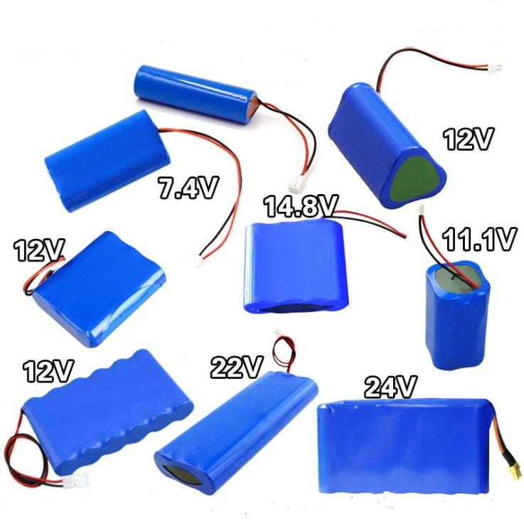 3.7V 7.4V 11.1V 14.8V Al Litio Li-Ion Ricaricabile ICR18650 18650 Battery Pack 2600mah 1600mah 1800mah 2000mah 2200mah 2400mah