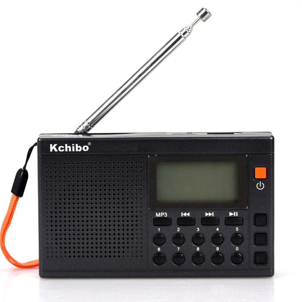 Alarm clock MultiBand MW FM SW with MP3 and lithium-ion battery can be rechargeable10 band digital radio