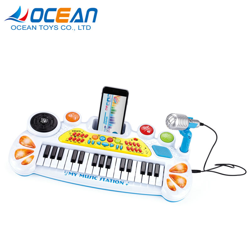 31 keys organ piano electronic music keyboard instrument with light
