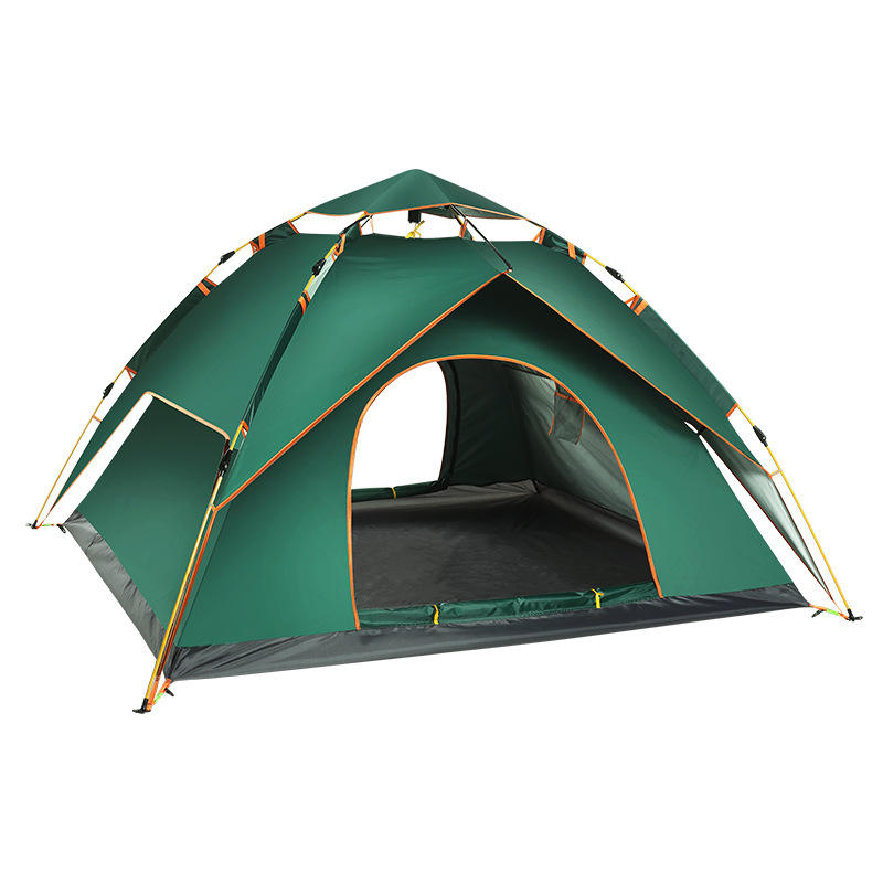Wholesale High Quality 3-4 Person Outdoor Automatic Large Family Camping Tent For Travelling Beach
