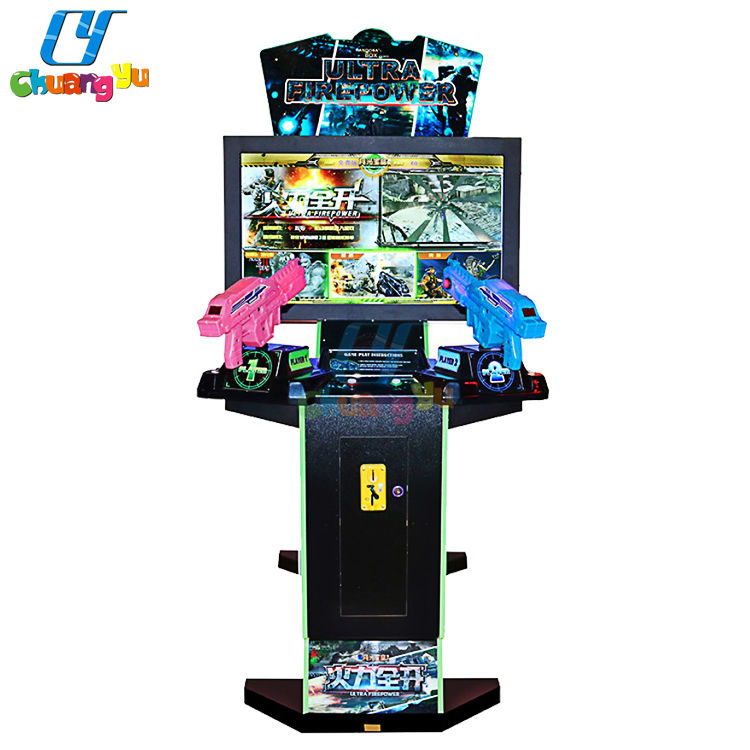 42 Inch 3 In 1 Coin Operated Simulator Laser Arcade Video Games Shooting Gun Machine For Sale