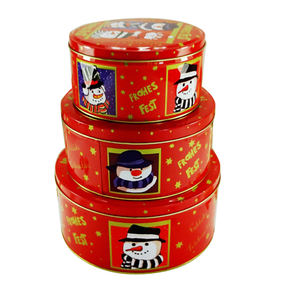 3 pieces vòng bánh/bơ cookie/biscuit tin box set