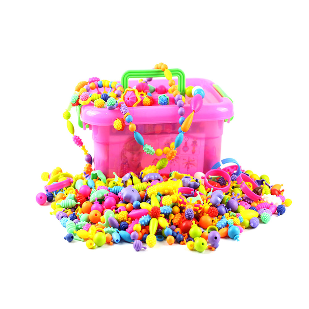 Children Education Toys ,String beads, Crafts DIY Handmade Bead For Jewelry Making Plastic Bead Sets