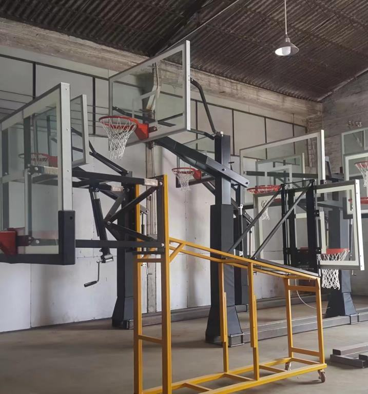 In ground used professional adjustable basketball hoops for sale