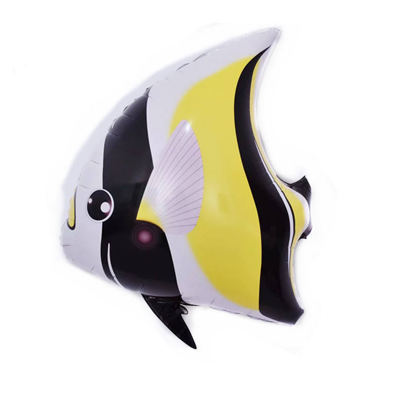 Moorish idol Zanclus cornutus Foil Helium Inflatable Balloons for Baby Shower Kids Birthday Party Decoration