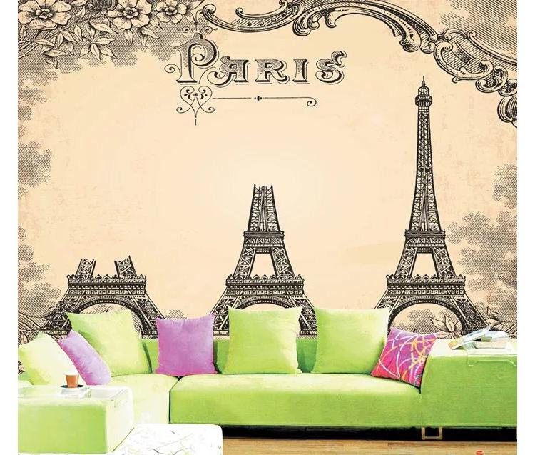 Wallpaper Dinding Kamar Gambar Menara Eiffel  cari kualitas tinggi eiffel tower room wallpaper produsen