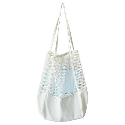 Large Capacity Beach Outdoor Single Shoulder Mesh Bags With Logo