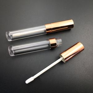 P-Lan Brand Stock 6ML Silver/Rose Gold Empty Plastic Lipgloss Tube Packaging For Cosmetic