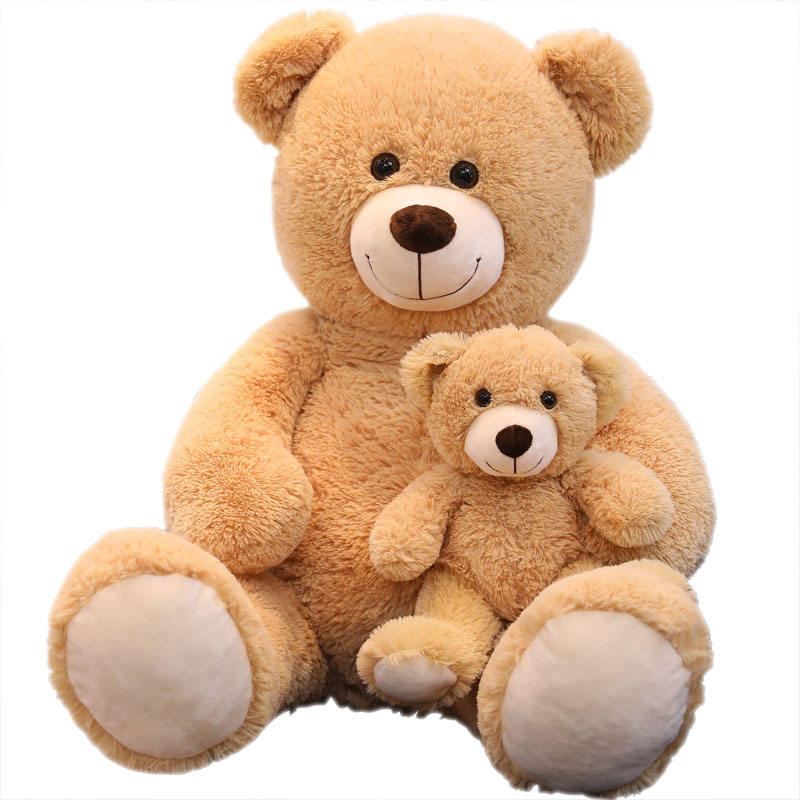 factory wholesale high quality stuffed wild animal 100cm big teddy bear mommy with 40cm bear teddy son plush toy