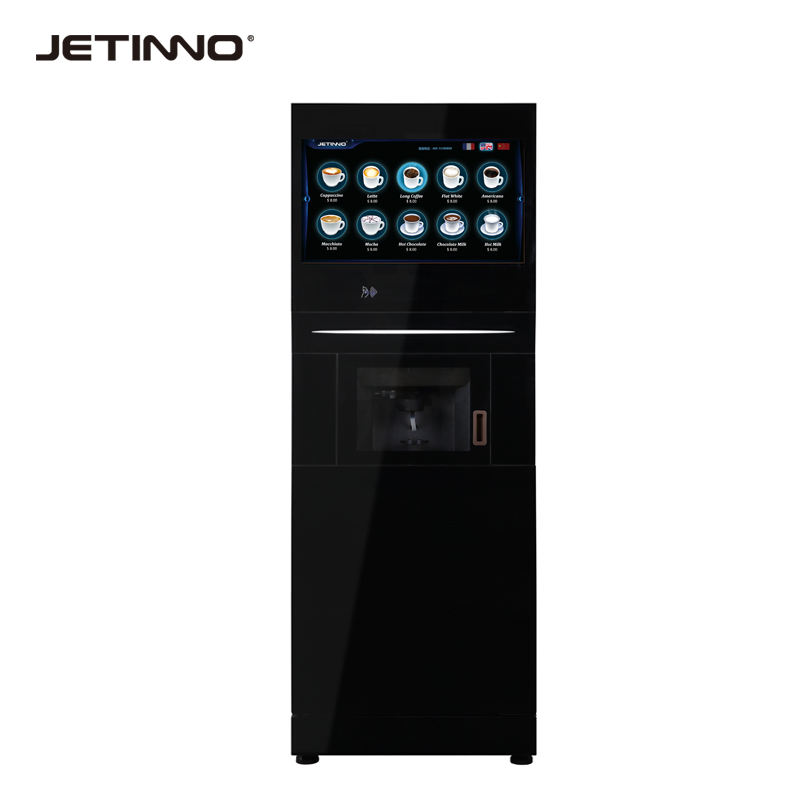 jetinno touch screen coffee machine coin operated automatic coffee vending machine