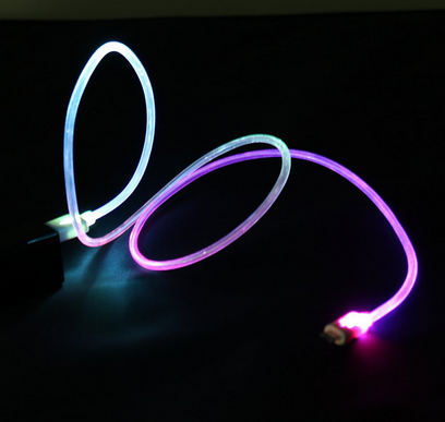 2020 New Style Flashing Glowing LED Light UP Cable In-Ear Wired Hands free Headphone Headset Earbud Earplug