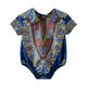 Baby Clothes Shenbolen Hot Sale African Baby 100% Cotton Clothes Wholesale Baby Wax Print Triangle Romper