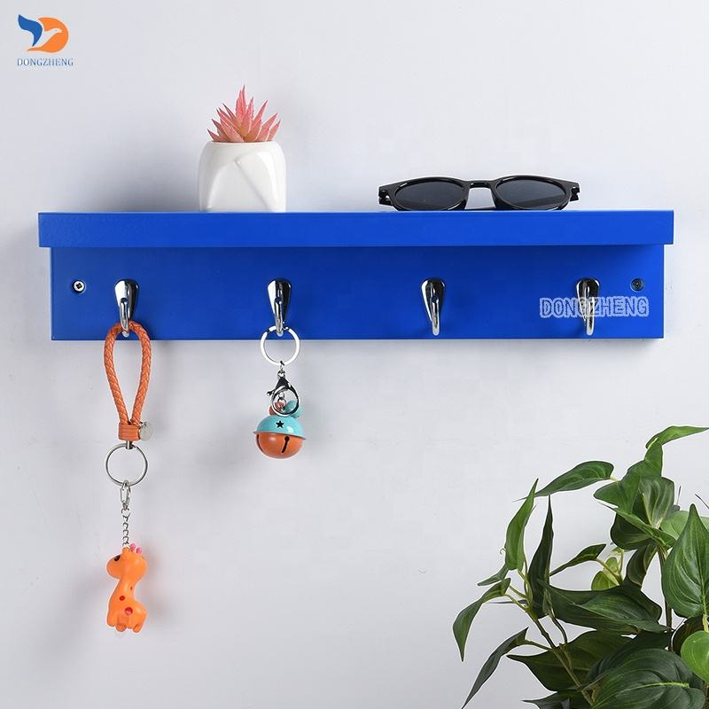 Modern Decorative Wall Mounted Wood Shelf With Hook