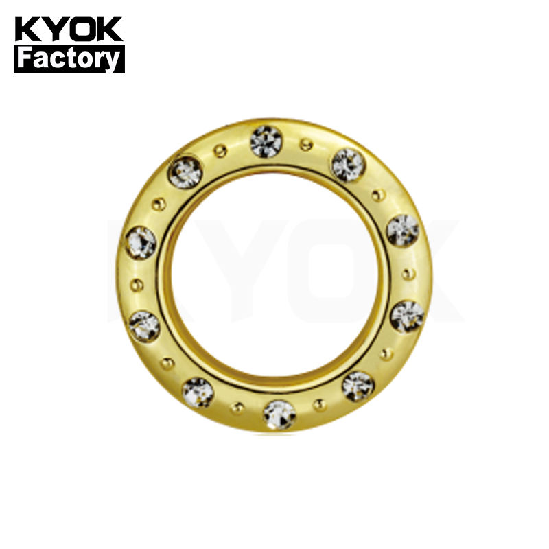 KYOK Living Room White curtain Eyelet Ring Plastic Bronze70Mm Curtain Rings metal Ring For Curtain