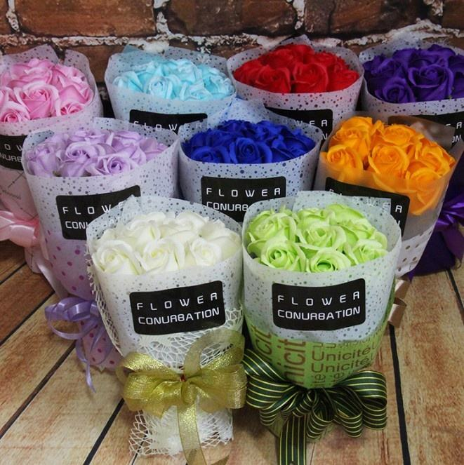 Gift flower bouquet, rose flowers bouquet,handmade soap flower