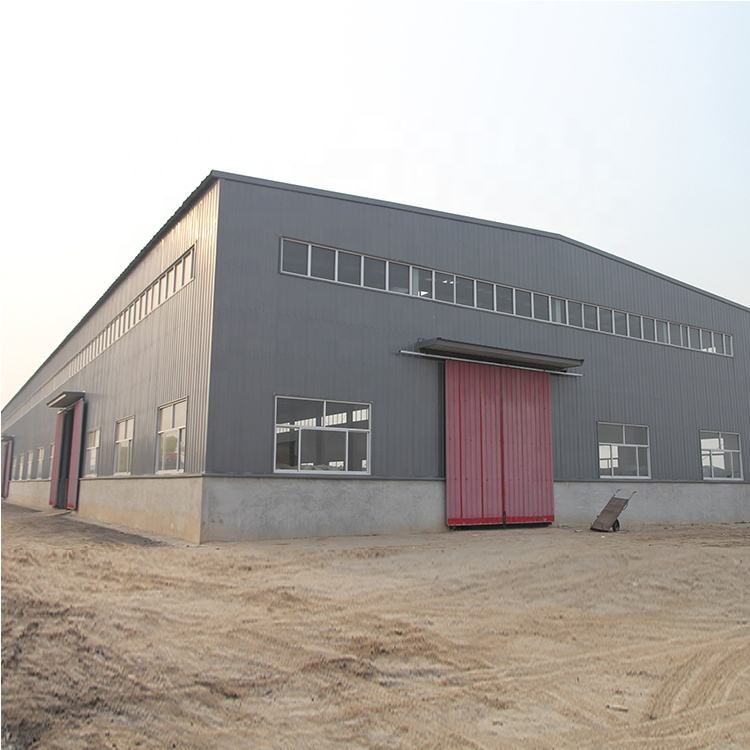 Pre-built flat roof steel engineering warehouse buildings pakistan on sale