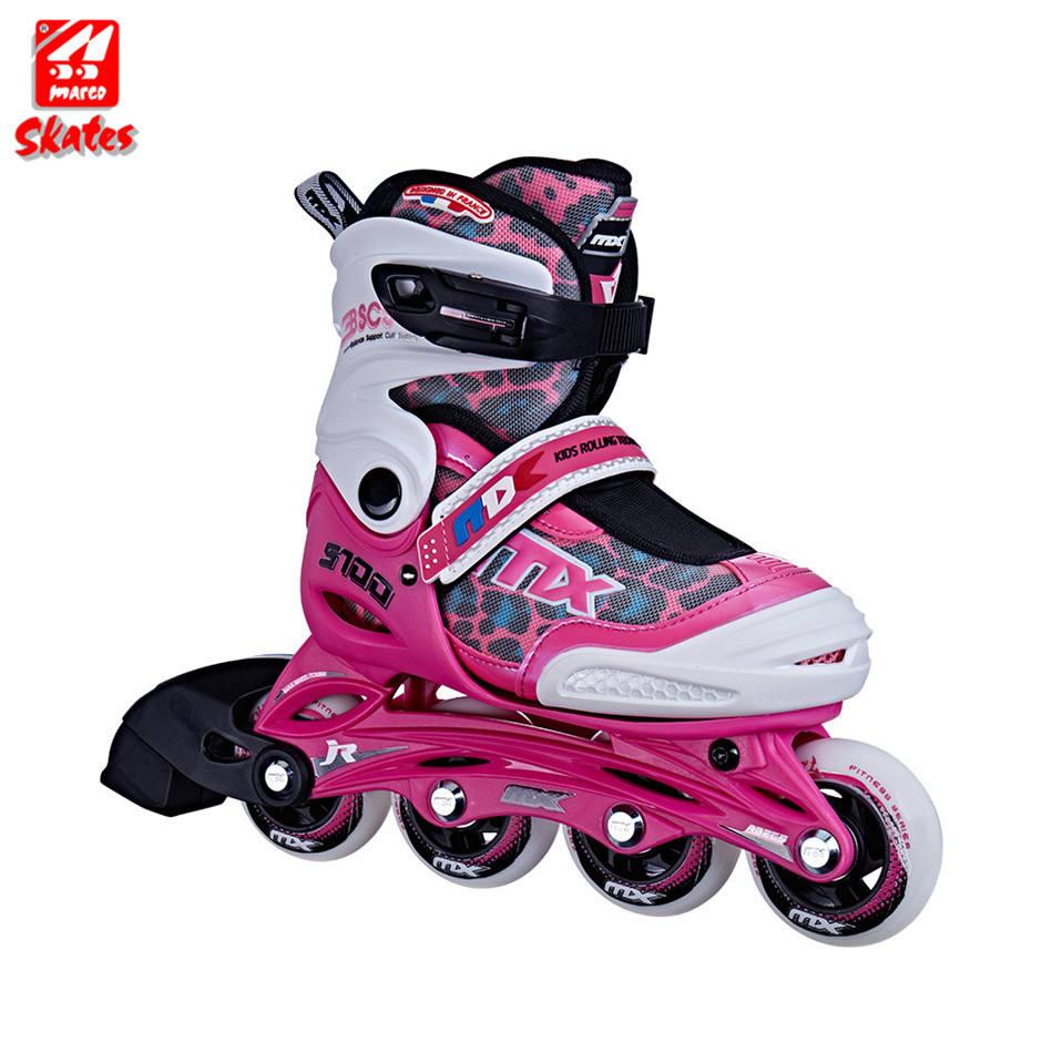 ファッショナブルなインライン Pp コアのための点滅ローラースケート靴 4 ショートトラックスケート