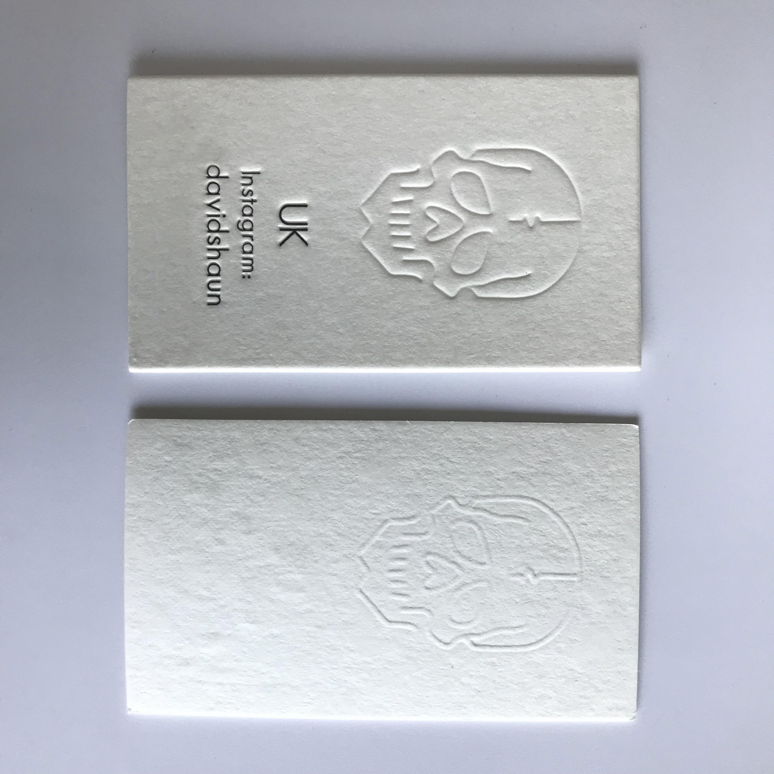 900GSM Letterpress Thick White Cotton Cardboard Paper Garment Hang Tag