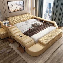 Modern Bed with Storage Massage Functions Multifunctional With Storage Home Bedroom Furnit V&P-c9008b#