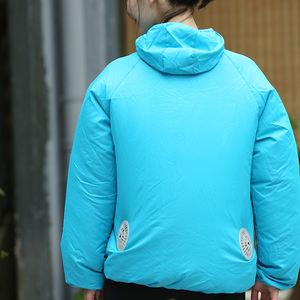 Super light anti uv fan cooling custom hoodies men and unisex set jacket