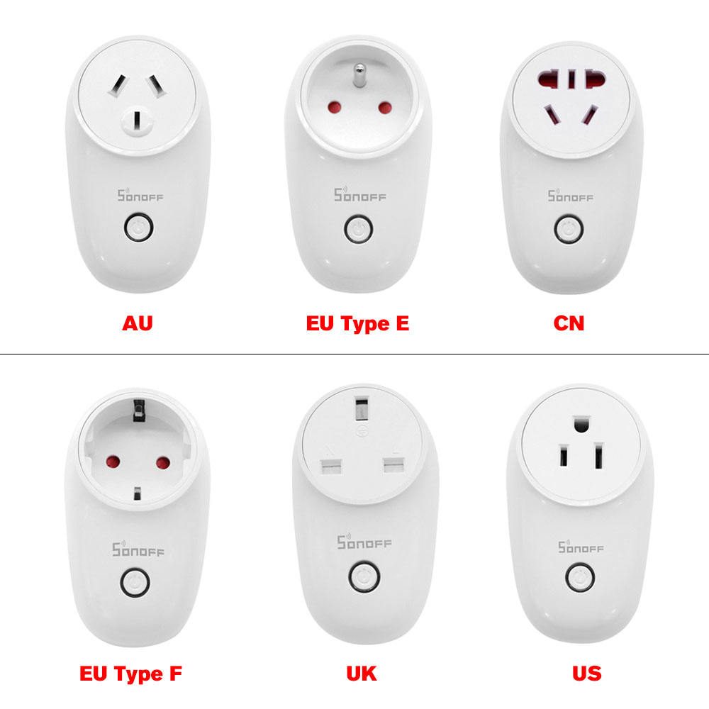 Sonoff S26 WiFi Smart Socket AU/CN/EU/UK/US Draadloze Plug Smart Home Switch Power sockets
