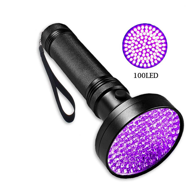 Super Bright 10W 100 LED 395 nm Violet Ultra Hand Lamp UV Flashlight For Money ,Bed Bugs, Scorpions