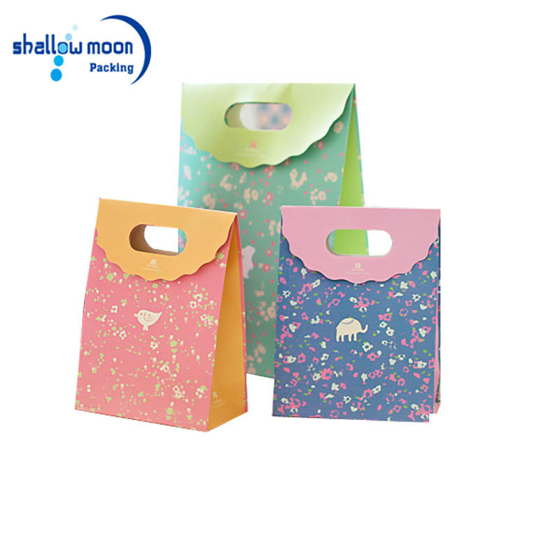 Wholesale Cheap Fancy Indian Wedding Gift Bags Matt Finished Coated Art Paper Shopping Bag With White Cotton Handle