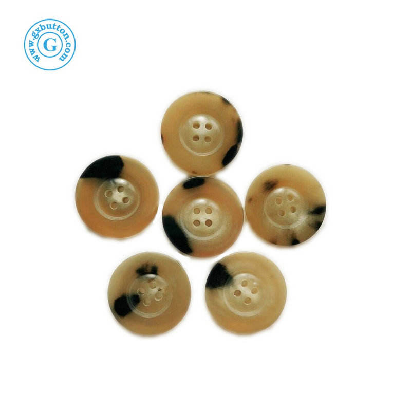 Custom Logo 4穴Natural Horn Coat Suit Sewing Buttons