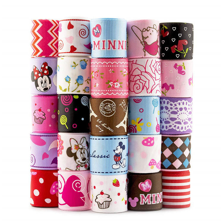 printed wholesales printer for grosgrain ribbon cartoon