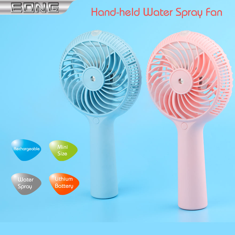 YXC Portable Mini USB Charging Water Spray Foldable Handheld Small Fan Color : Pink USB Fan Black