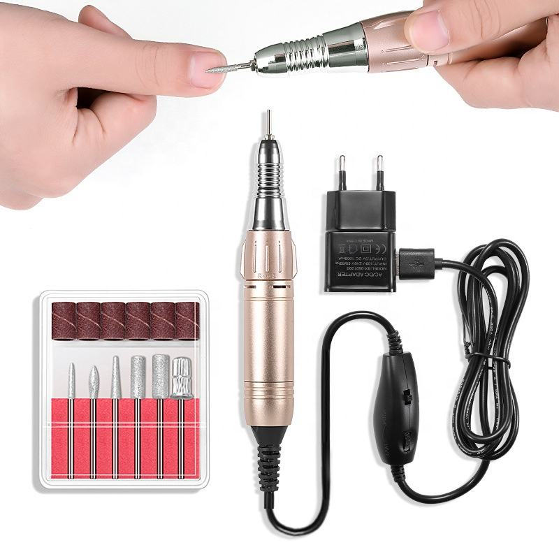 Portable Pen design cordless 20000RPM electric nail polisher drill for Acrylic Nails