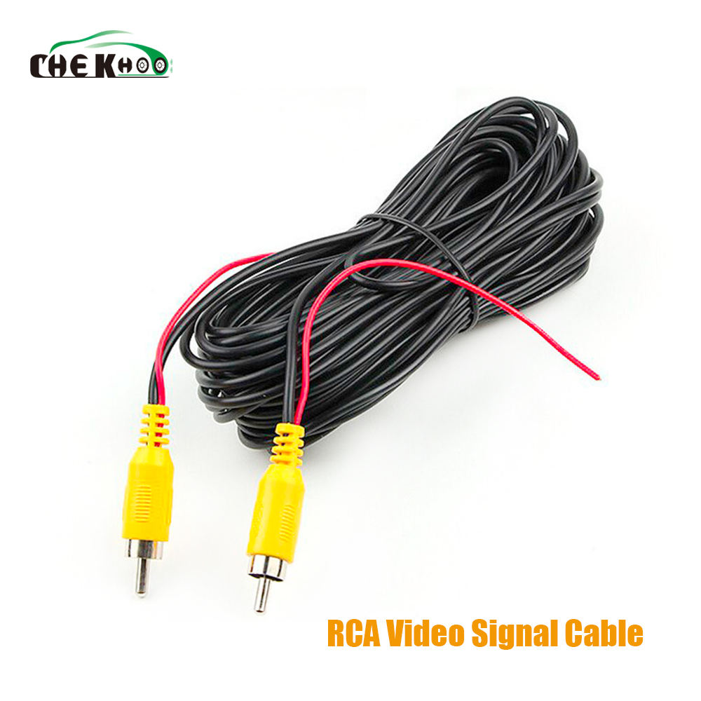 6m Car RCA CAR Reverse Rear View Parking Camera Video Cable RearView with Video Trigger Wire for All Car Accessories Wire
