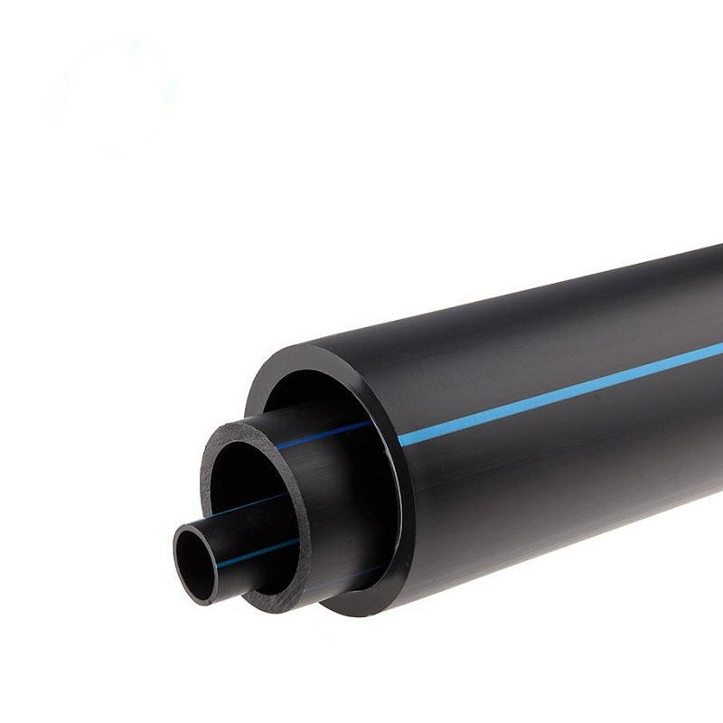 Pe100 Hdpe Pipe Polyethylene Pipes Pn10 Pn16 Sdr 26 Dn200 110 Mm Black Hdpe Water Pipe
