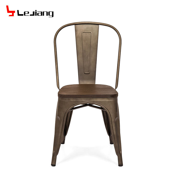 Free Sample Dining Industrial Mesh Vintage Industri Wholesal Leather Gold Conference Rustic Restaurant Wed Dine Metal Chair