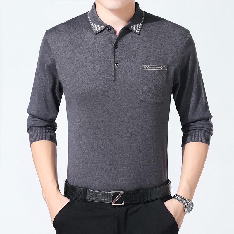 <span class=keywords><strong>Весна</strong></span> с длинным рукавом формальный стиль Дешевые Трикотажные сплошной цвет человек Пользовательские fit свитер рубашка