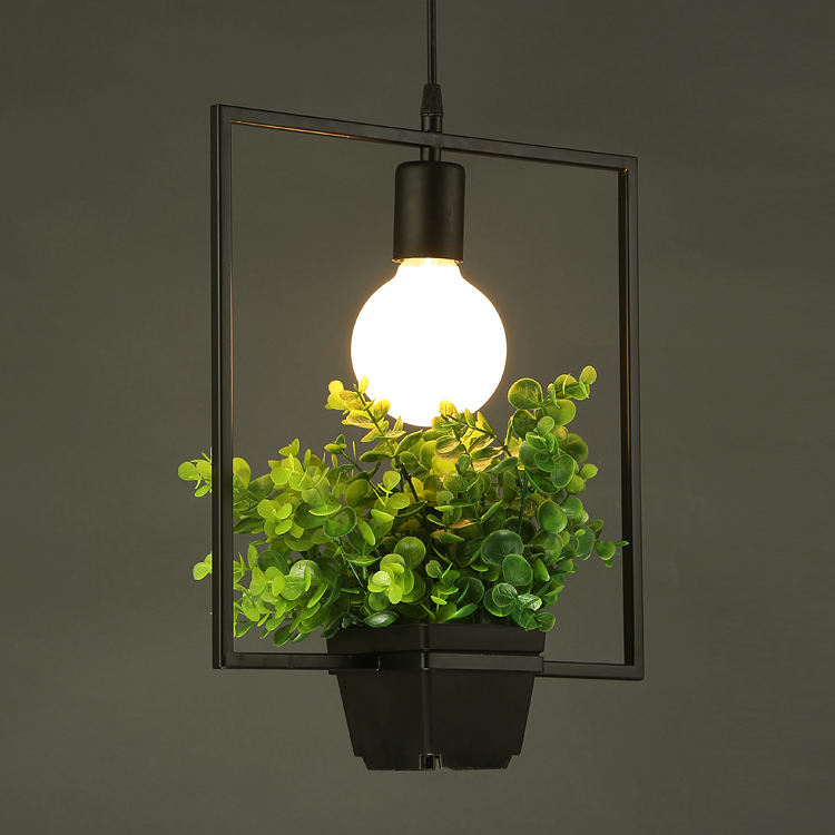 contemporary glass lamp indoor plants pendant light chandelier