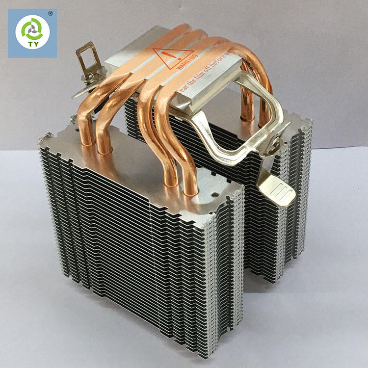 Custom High power double tower Heat Pipe heat sink for Computer Server
