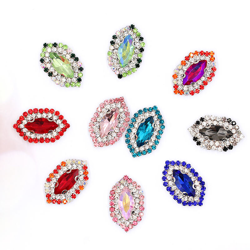 Factory Wholesale Flat Back Loose Beads Embellishment Glass Non Hot fix Sew On Rhinestone
