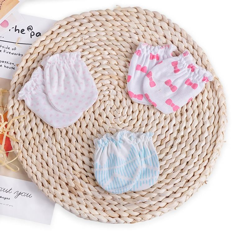 Colorful Soft Winter Warm Infant Gloves 100% Cotton Cute newborn Baby Teether Mitten