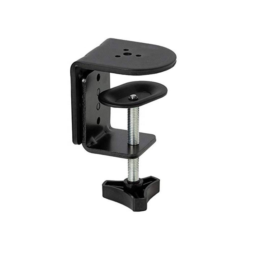 OEM High Quality Black Powder Coating Heavy Duty Metal Desk Clamp For Monitor Stand