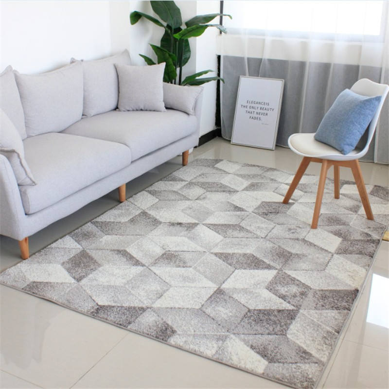 3D Block Geometric Carpet Large Size For Living Room Bedroom Tea Table Rugs In Rectangular Shape Ant-slip Floor Mat