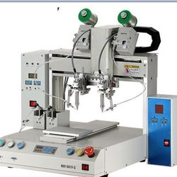 automatic soldering robot for parts welding at desktop welding soldering machine