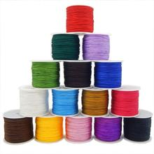 55m/roll 0.8mm White Nylon Cord Thread Red Chinese Knot Bracelet Braided String DIY Beads Cord for Jewelry Making Accessories