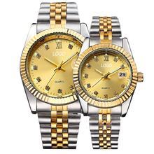 Amazon explosion models couple watches, high-end waterproof and wear-resistant fashion gold watches